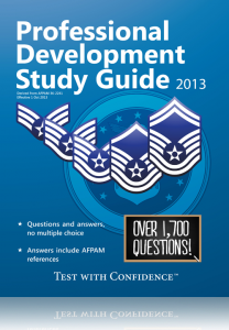 air-force-professional-development-study-guide-2013-edition-pfe-usafse