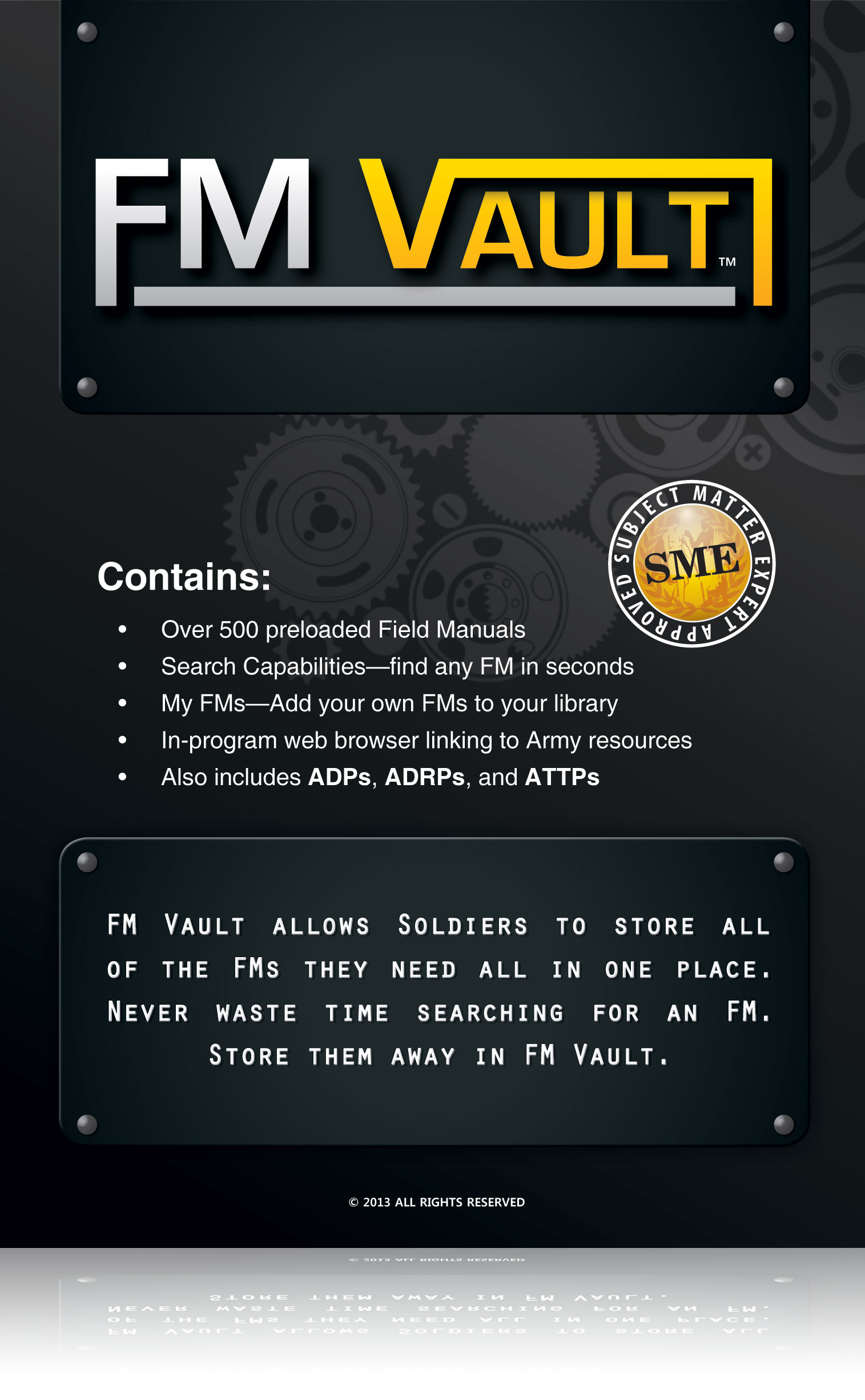 FM Vault: Army Field Manual Software (Windows)