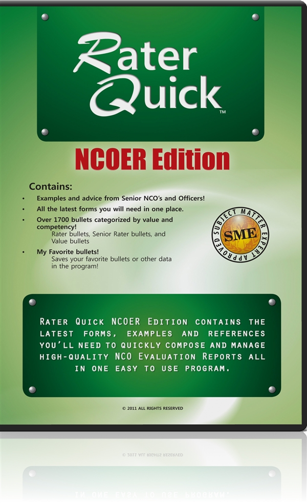 Rater Quick: NCOER Edition (Windows)