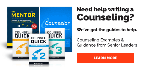 Army Counseling Products from Mentor Military
