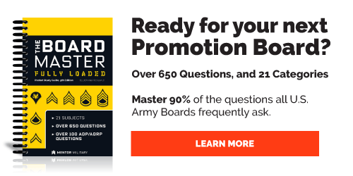 Army Promotion Study Guides from Mentor Military